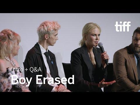 BOY ERASED Cast and Crew Q&A  TIFF 2018