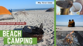 Beach Camping (My FIŔST Time) - Assateague Island | Travel Lessons