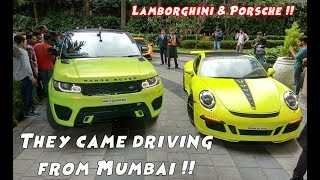 Mumbai Supercars in Bangalore | Lots of People chased the car !!