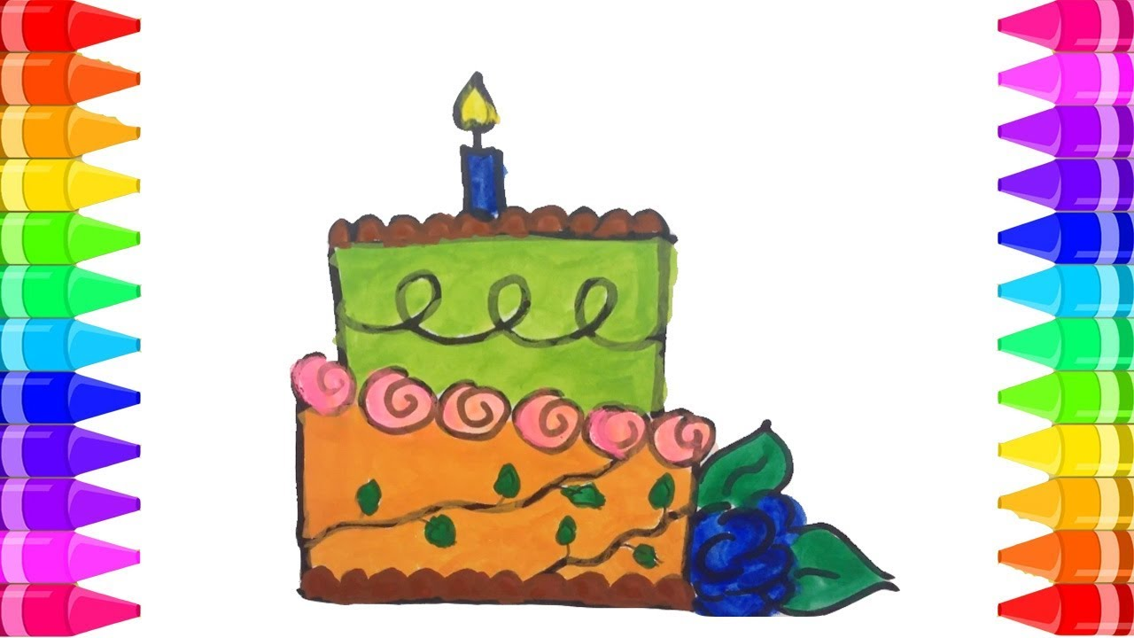Birthday drawing ideas | How to draw a Birthday Cake Step by Step ...