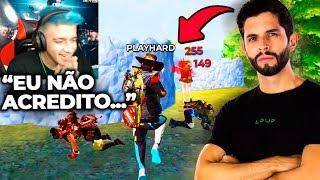 CRUSHER SE IMPRESSIONA COM PLAYHARD E MANDA A REAL AO VIVO!!! FREE FIRE