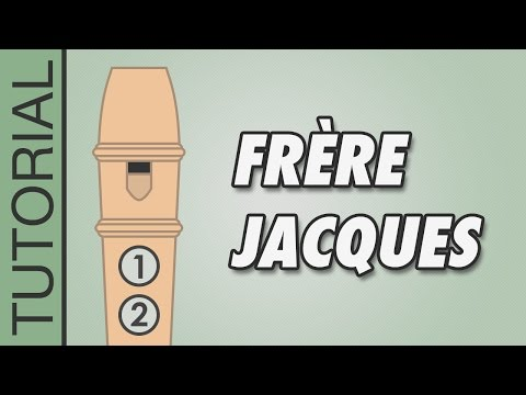 Frère Jacques (Are You Sleeping?) - Recorder Notes Tutorial - Easy Songs