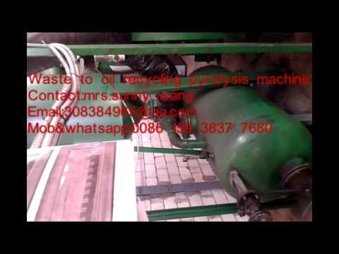 municipal refuse household waste recycle to oil pyrolysis machine