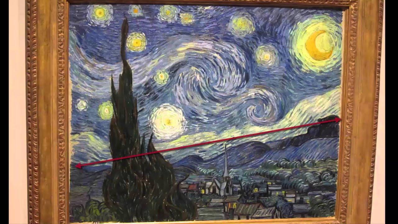 Van gogh notte stellata youtube for La notte stellata