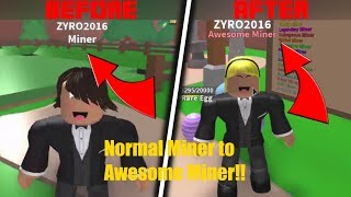 GETTING AWESOME MINER IN ONE SESSION!! (Roblox Mining Simulator) *time lapse* ( Early Victoria day)