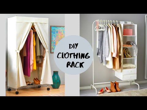 Aesthetic Clothing Rack | Mobile Travel Cupboard | Out of PVC Pipes!