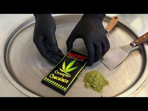Weed Ice Cream Rolls | with HEMP Cannabis Marijuana Cnusper Chocolate - no smoke weed | satisfying