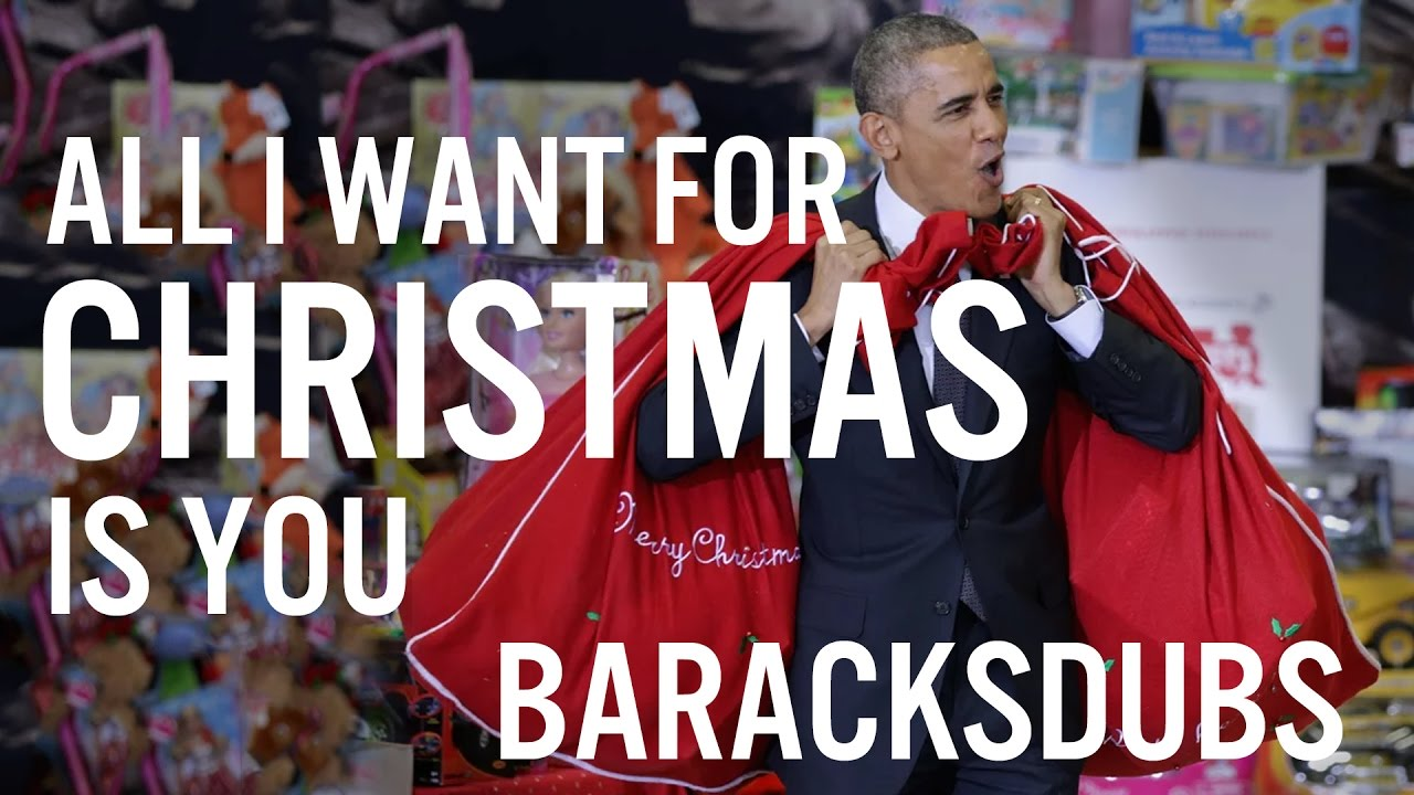 Barack Obama Singing All I Want for Christmas Is You by Mariah Carey ...