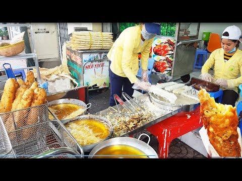 Cận cảnh bánh chuối chiên Phú Lâm ngon và sạch nhất Sài Gòn | street food of saigon | vnt