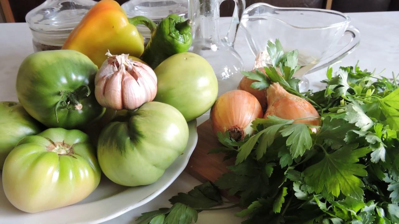 ЗАКУСКА из зелёных помидоров.