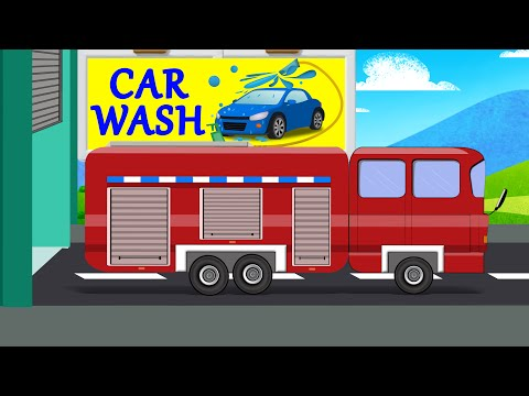 Car Wash | Fire Rescue | Fire Vehicle for Toddlers & Preschoolers