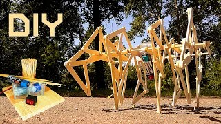 Popsicle stick Spider Robot DIY crafts ideas