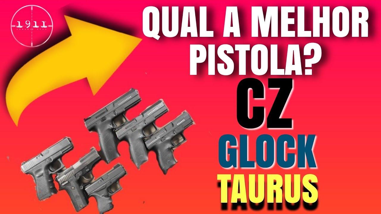 QUAL A MELHOR PISTOLA, CZ, GLOCK OU TAURUS?  CZ P-10 S, P-10 C, P-10 F, Glock G25, G42 e PT 938.