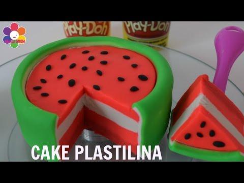 Play DOH| Pastel sandia en plastilina| watermelon cake toys| SALILA SHOW