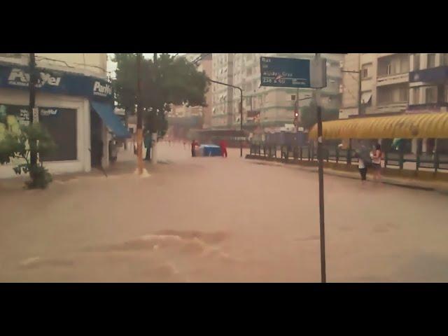 A pior chuva que vivi em Porto Alegre