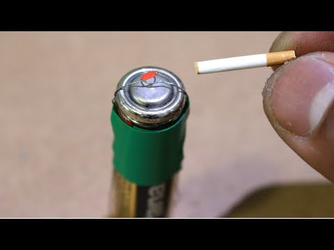 Make A Lighter Out Of AA Battery from YouTube · Duration:  7 minutes 54 seconds