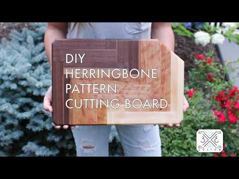 DIY Ombre Herringbone Cutting Board