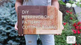 DIY Ombre Herringbone Cutting Board