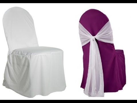 banquet chair covers - youtube