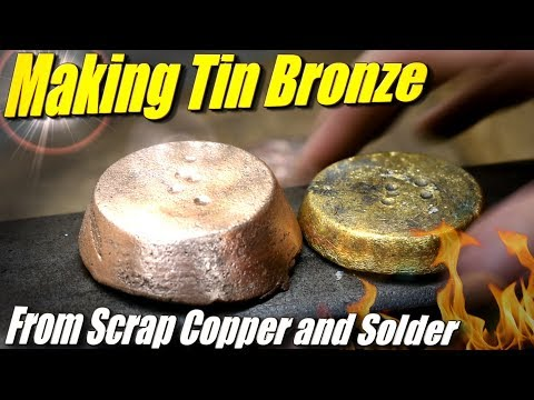Making Bronze Ingots from Scrap Copper and Tin in the Fire Brick Foundry Furnace