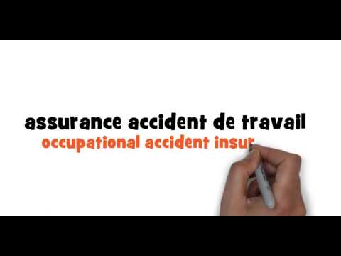 How to write occupational accident insurance in French