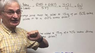Mixture Problems  ORGOMAN - DAT DESTROYER – Math