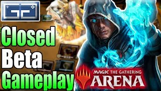 Magic The Gathering Arena (CLOSED BETA) Gameplay | MTG Arena First Impressions | White/Red Dino Deck