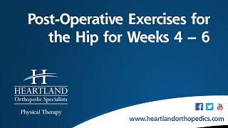 Post-Operative Exercises Weeks 4-6 for Total Hip Replacement Video
