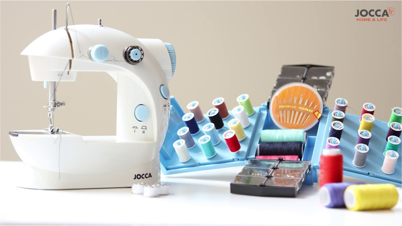 Jocca Portable Sewing Machine & Sewing Kit - YouTube