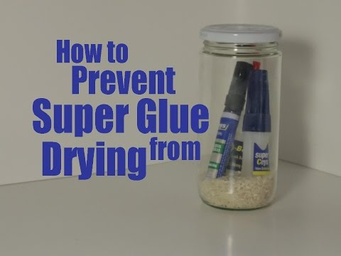 Keep Your Super Glue from Drying Out with a Jar of Rice