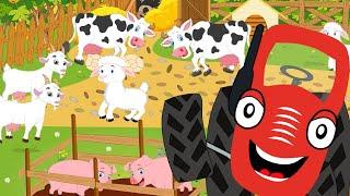 У Тыр тыр трактора была ферма - Old MacDonald Had A Farm - Kids Songs - Мультики для детей