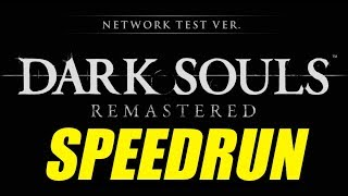 Dark Souls Remastered Speedrun! Network Test All Classes in 18:52 RTA