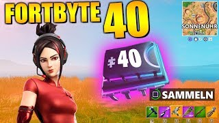 Fortnite Fortbyte 40 ☀️🕛 Demi Skin Sundial | All Fortbyte Places Season 9 Utopia Skin English