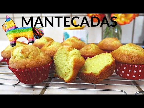 Mantecadas   Magdalenas   Vanilla Muffins   Pan Dulce Recipe   quick and easy