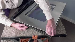 Whirlpool Oven Repair - How to Replace the Door Trim - Left Side (Whirlpool Part # W10761018)