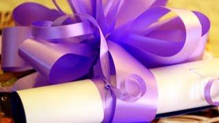 How To Decorate A Gift. Как упаковать подарок! Tutorial. Ribbon Bow.