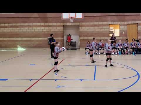 Olivia Kiel first Faith Lutheran Academy volleyball game 9/9/19