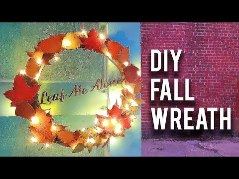 """Autumn """"Welcome"""" Wreath: Easy DIY Laser Cutter Project"""