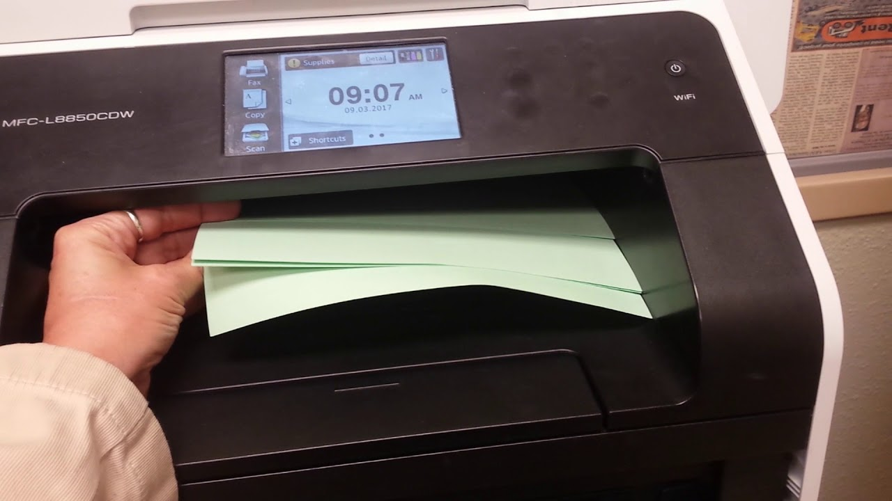 How to Print LaserJet Business Cards on Brother MFC-L8850 Printer ...
