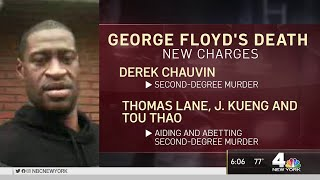 3 More Officers Charged in George Floyd's Death, Derek Chauvin Now Charged For Second Degree Murder