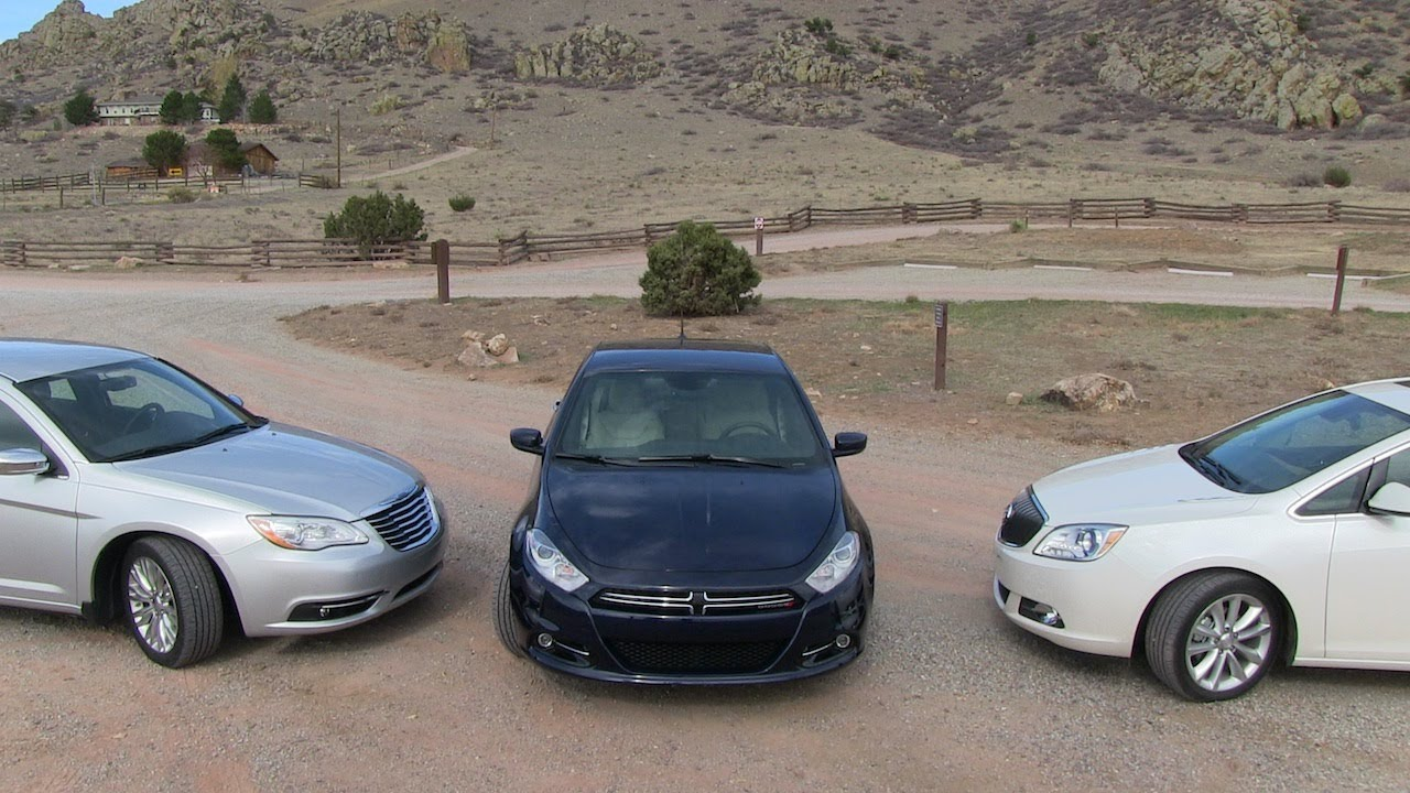 2013 Dodge Dart vs Buick Verano vs Chrysler 200 0-60 MPH ...