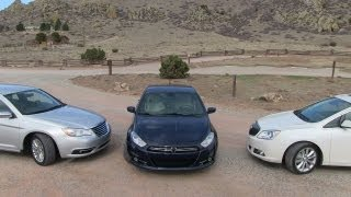 2013 Dodge Dart vs Buick Verano vs Chrysler 200 0-60 MPH Starter Sedan Mashup Review