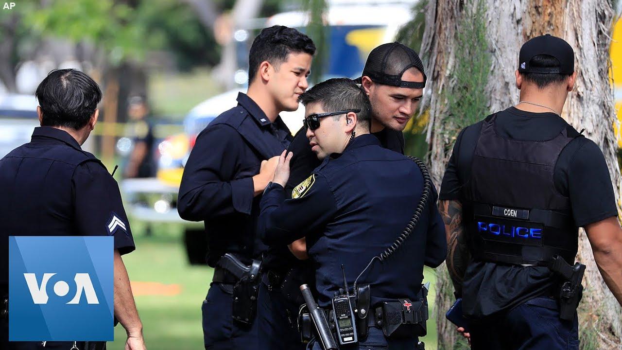 Homes Burn After Shooter Kills 2 Police Officers in Honolulu, Hawaii