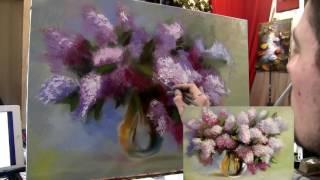 Сирень в вазе мастер класс живописи южаков новое 2