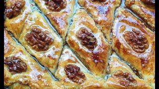 Слоенный ореховый пирог