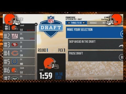 2018 NFL DRAFT! (Madden 18 Franchise)
