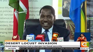 Munya admits gov't failed to plan on fighting locusts