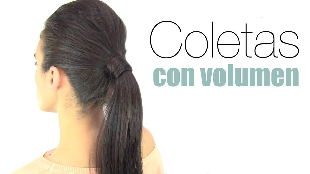 Peinados f ciles c mo hacer coletas con volumen youtube - Como hacer peinados faciles ...