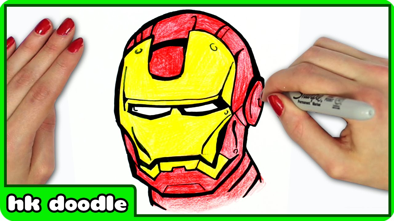 How To Draw Iron Man From Avengers Easy Step By Step Superhero