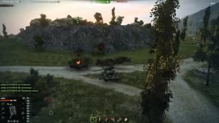 На ис-6 упала башня от т 69 и ис-6 уничтожился.!!